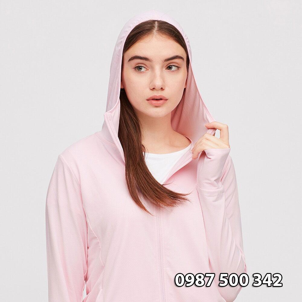 AiRism áo Hoodie chống UV vải mắt lưới Uniqlo Nhật