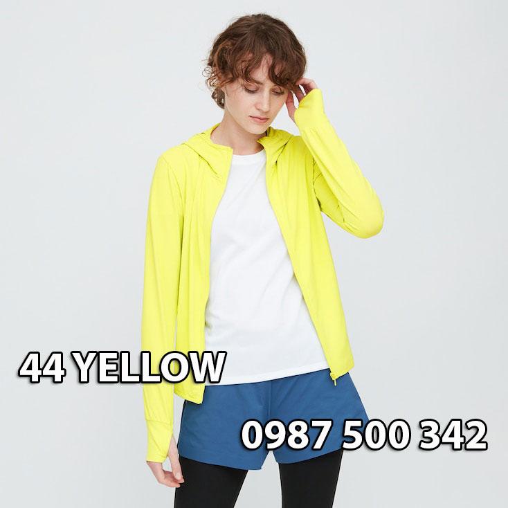 Áo chống nắng Uniqlo Airism Nhật Bản mẫu mới 2020 mã 422807 màu vàng chanh 44 YELLOW