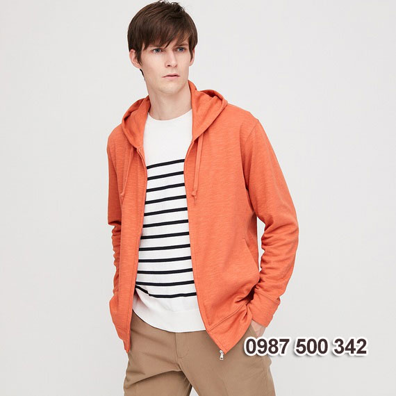 Áo chống nắng nam 2020 Uniqlo Nhật màu cam 22 ORANGE - 422986