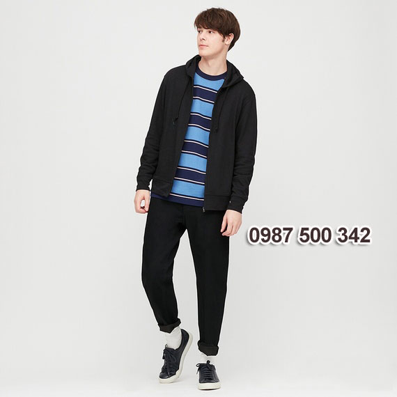 Áo chống nắng nam 2020 Uniqlo Nhật màu đen 09 BLACK - 422986