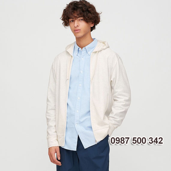 Áo chống nắng nam 2020 Uniqlo Nhật màu trắng 01 OFF WHITE - 422986