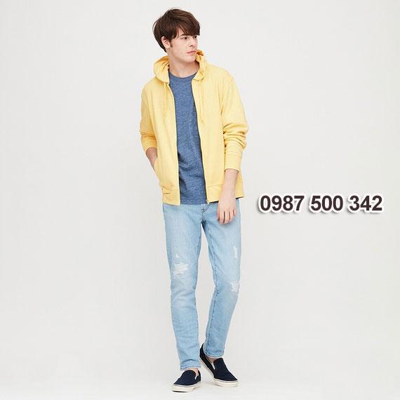Áo chống nắng nam 2020 Uniqlo Nhật màu vàng 42 YELLOW - 422986