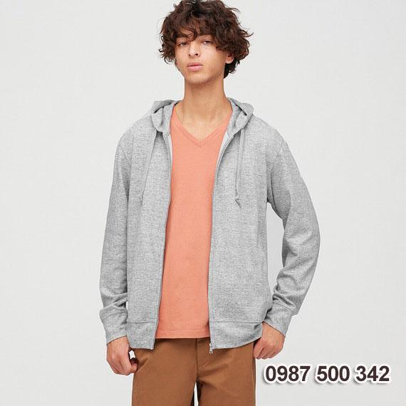 Áo chống nắng nam 2020 Uniqlo Nhật màu xám tàn thuốc 04 GRAY - 422986