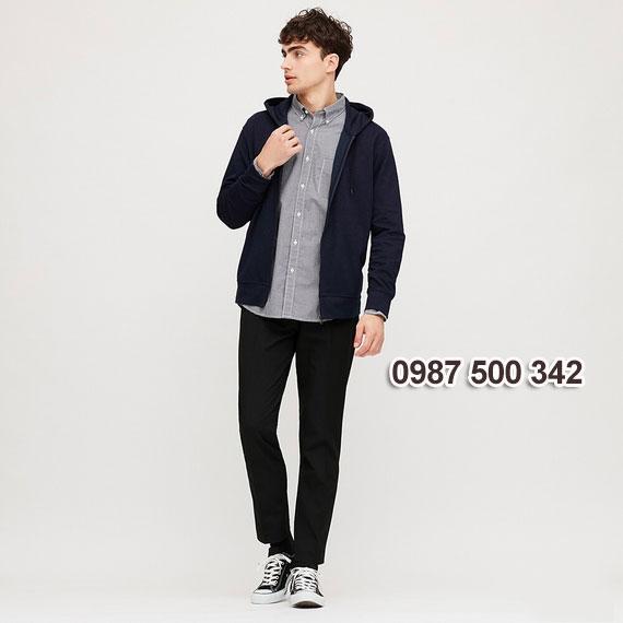 Áo chống nắng nam 2020 Uniqlo Nhật màu xanh đen 69 NAVY - 422986