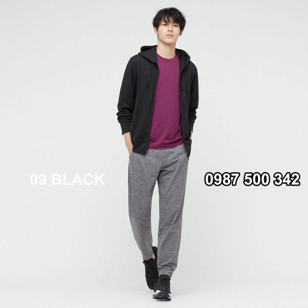 Áo chống nắng nam Uniqlo AiRism 2021 áo màu đen