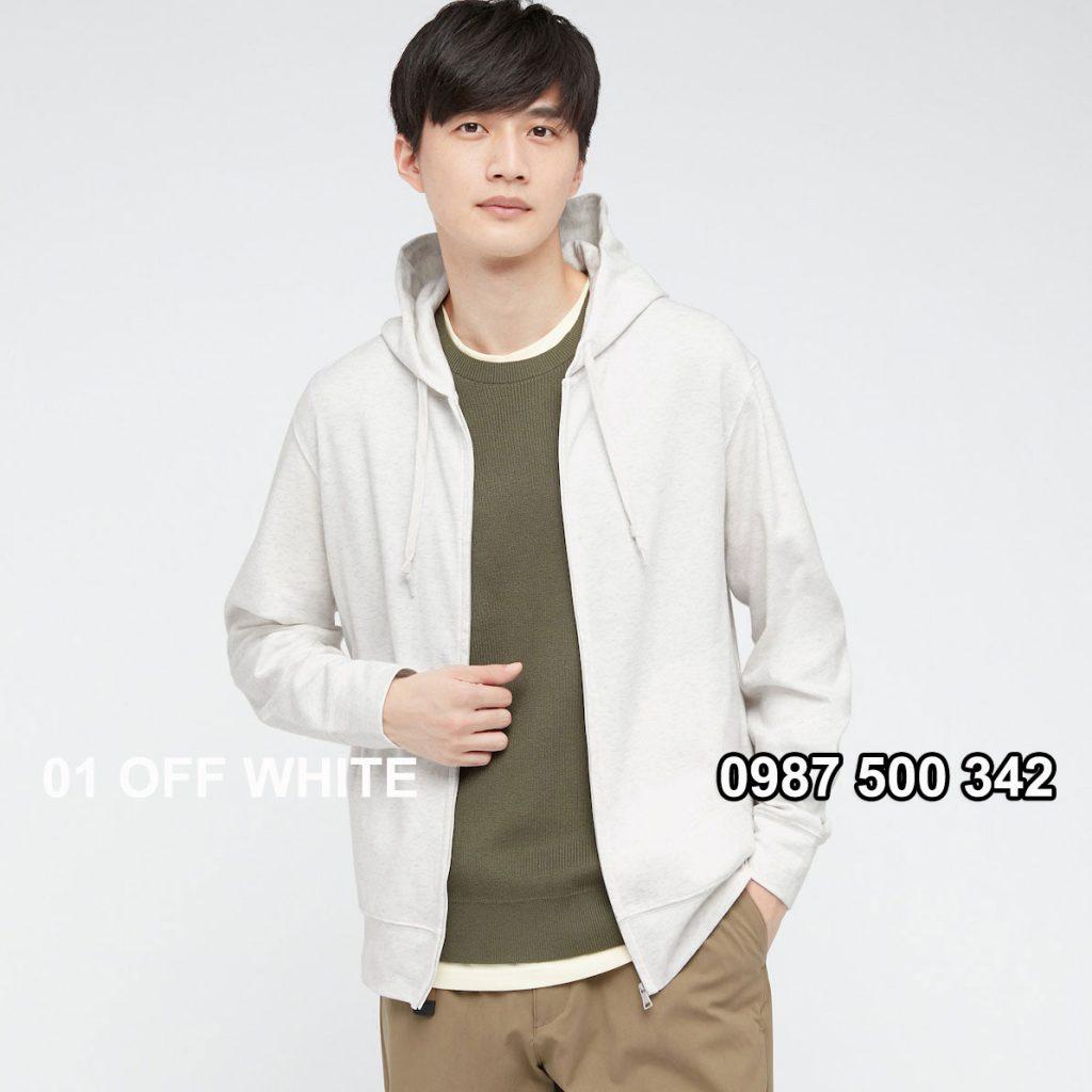 Áo chống nắng nam Uniqlo AiRism 2021 áo màu trắng